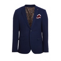 Quiz Mens Navy Cotton Waffle Blazer - Navy Photo