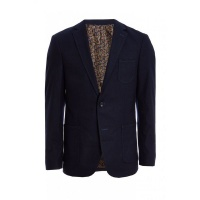 Quiz Mens Navy Fashionable Patch Pocket Blazer - Navy Photo