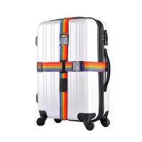 Adjustable Cross Luggage Strap Travel Suitcase Packing Belt-Rainbow Photo