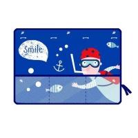 Cartoon Ocean Car Side Window Sunshade Curtain with Mesh Pocket Photo