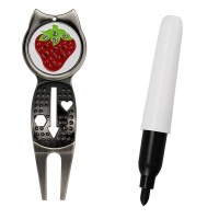 Strawberry Divot Tool Plus Ball Marker Photo