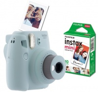 Fujifilm Instax Mini 9 Value Bundle - Ice Blue Photo