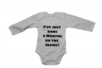 I've just done 9 months on the inside - Baby Grow Photo