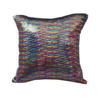 Mermaid Colour Changing Sequin Pillow Cushion - Rainbow and Silver Photo
