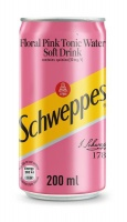 Schweppes Floral Pink Tonic Can - 24 x 200ml Photo