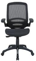 Linx Kyro Task Mid Back Mesh Chair - Black Photo
