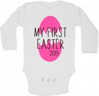 BTSN -My First Easter Girl baby grow L Photo
