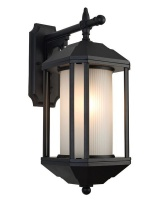 Outdoor Down Facing Aluminium wall light with Frosted Glass L519 Photo