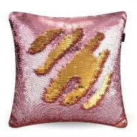 Mermaid Colour Changing Sequin Pillow Cushion - Rose Gold & Silver Photo