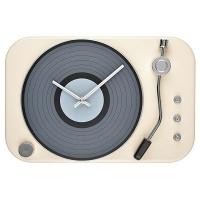 Record Player Clock Ivory Photo