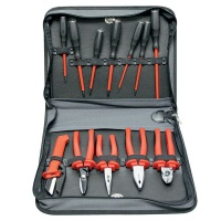 ACDC/Intercable Fully Equipped 14 Piece Tool Kit - Imitation Leather Case Photo