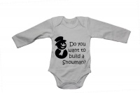 Do You Want To Build A Snowman? - Baby Grow Photo