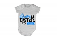 Happy Easter 2019 - Blue - Baby Grow Photo