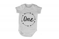 One - Circular Design - Baby Grow Photo