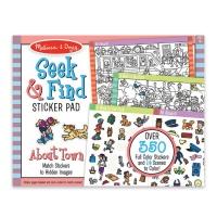 Melissa & Doug Seek & Find Sticker Pad - Around Town Photo