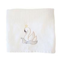 Graceful Swan Cellular Cotton Baby Blanket Photo