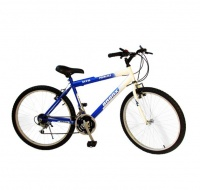 "White and Blue Bronx 26"" Road Bike 21 Friction Gear System Photo"