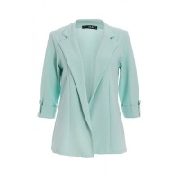 Quiz Ladies Mint Green 3/4 Sleeve Blazer - Mint Photo