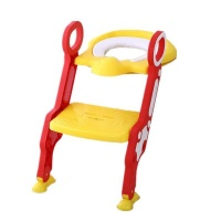 Gggles Padded Toilet Ladder Chair - Rose Red Photo