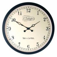 NeXtime 25 cm 'Aaltje' Metal & Glass Round Wall Clock - Black Photo