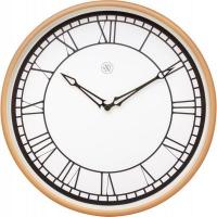NeXtime 30cm Kyle Plastic Round Wall Clock - White & Matt Rose Photo