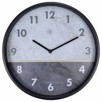 NeXtime 30cm Horizon Metal Round Wall Clock - Grey Photo