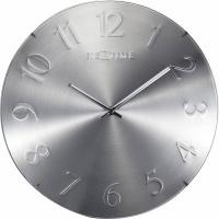 NeXtime 35cm Elegant Dome Shaped Glass Round Wall Clock - Gold Photo
