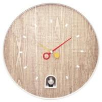 NeXtime 30cm Nightingale White ABS Round Wall Clock - White Photo