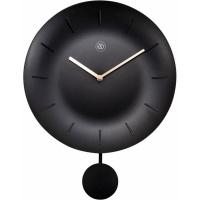 NeXtime 30cm Bowl Plastic Round Wall Clock - Black 7339ZW Photo