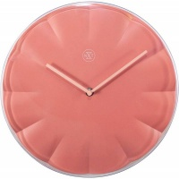 NeXtime 29cm Sweet Coral Plastic Round Wall Clock - Pink Photo
