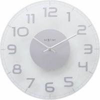 NeXtime 30cm Classy Round Transparent Glass Round Shaped Wall Clock Photo