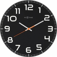 NeXtime 30cm Classy Round Glass Round Shaped Wall Clock - White Photo