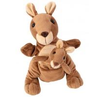 Beleduc Germany Mom and Baby Hand Puppets: Kangaroo - Kanga & Juju Photo