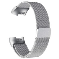 Killerdeals Milanese Loop Strap for Fitbit Charge 3 Men - Silver Photo