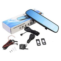 Rearview Mirror Dual Channel DVR Camera Recorder Dash Cam Photo