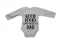 Good Looks Courtesy of Dad - LS - Baby Grow Photo