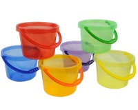 Greenbean Multi-Coloured Translucent Buckets: Set of 6 Photo