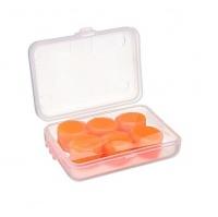 Soft Silicone Custom Moulded Earplugs - 3 Pairs - Orange Photo