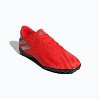 adidas Men's Nemeziz 19.4 Turf Soccer Shoes - Red/Silver Photo