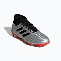 adidas Junior Predator 19.3 Firm Ground Soccer Boots - Silver/Black Photo