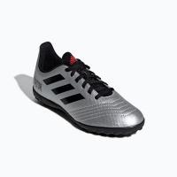 adidas Junior Predator 19.4 Turf Soccer Shoes - Silver/Black Photo