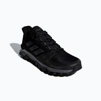 adidas Men's Kanadia Trail Running Shoes - Black/Grey Photo