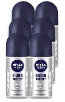Nivea Men Silver Protect 48h Deodorant Anti-Perspirant Roll-on 6 x 50ml Photo