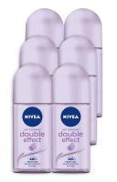 Nivea Double Effect 48h Deodorant Anti-Perspirant Roll-on pack of 6 x 50ml Photo