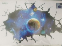 4 A Kid 3D Wall/Floor Sticker - Outer Space Astronaut Photo