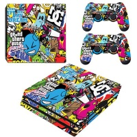 SKIN-NIT Decal Skin For PS4 Pro: Sticker Bomb 2019 Photo