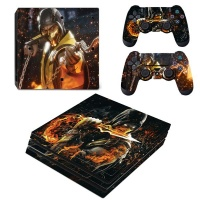SKIN-NIT Decal Skin For PS4 Pro: Scorpion Fire Photo