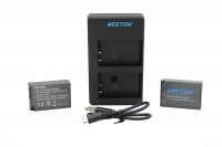 Canon Beston USB Dual Charger and 2 Battery Kit for LP-E17 Photo