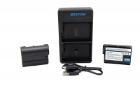 Beston USB Dual Charger and 2 Battery Kit for Nikon EN-EL15 Photo