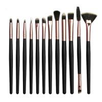 12 Piece Eye Shadow Blending Eyeliner Makeup Brushes Set-Black Photo